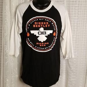 Dirks Bentley Riser Bird Baseball Tee SzS